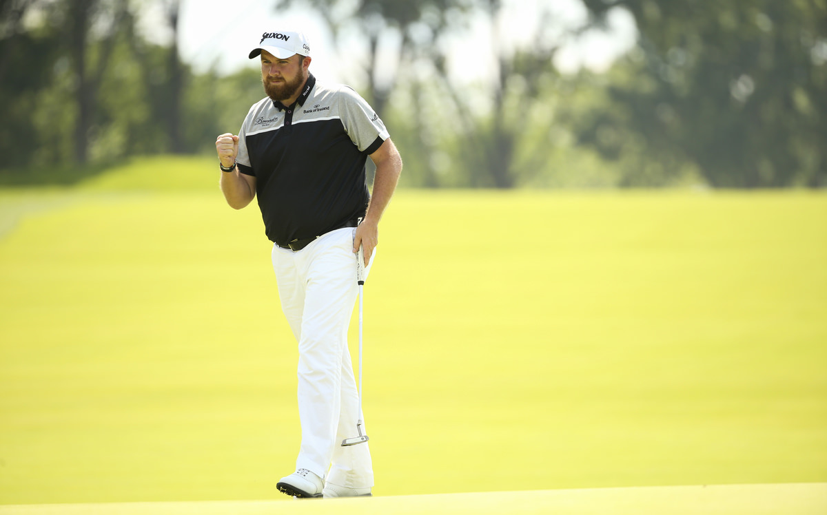 Shane Lowry after making par on the first hole during the final round of the 2016 U.S. Open at Oakmont Country Club in Oakmont, Pa. on Sunday, June 19, 2016. (Copyright USGA/Darren Carroll)