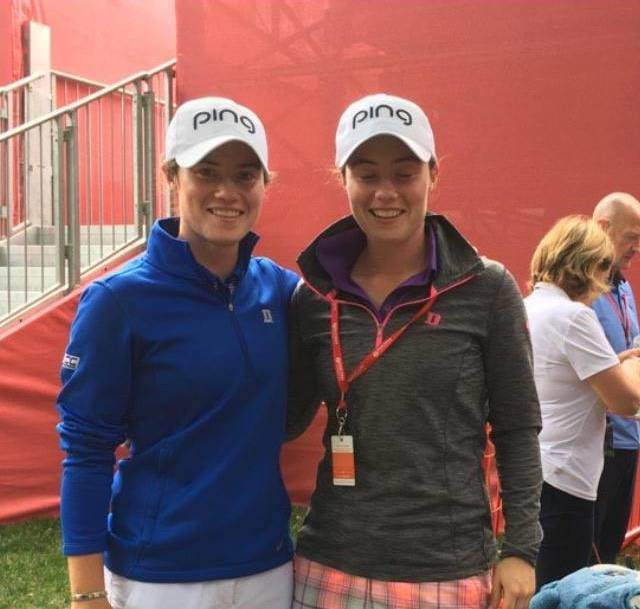 Leona Maguire and her sister Lisa, who is caddying this week and in Rio.