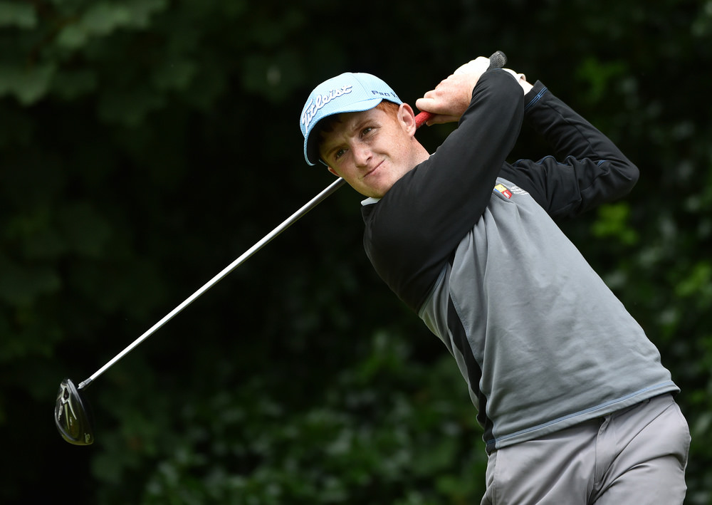 Ronan Mullarney (Galway) driving at the 17th tee during the final day of the 2016 Mullingar Electrical Scratch Trophy at Mullingar Golf Club ( 01/08/2016). Picture by  Pat Cashman