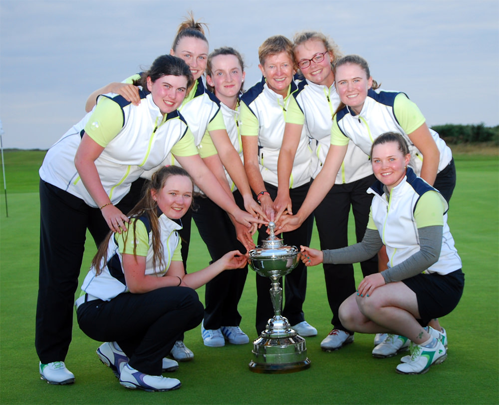 The winning Irish Girls team with the
