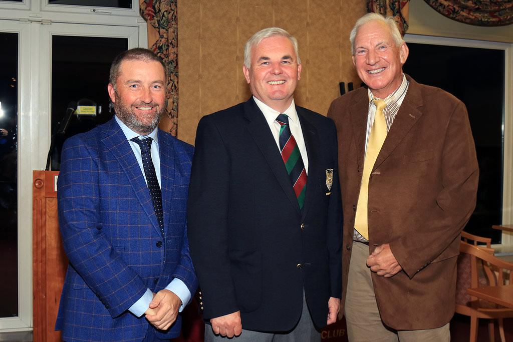 Damien McGrane and Denis O'Sullivan with Cork GC Captain, Damien Wallace