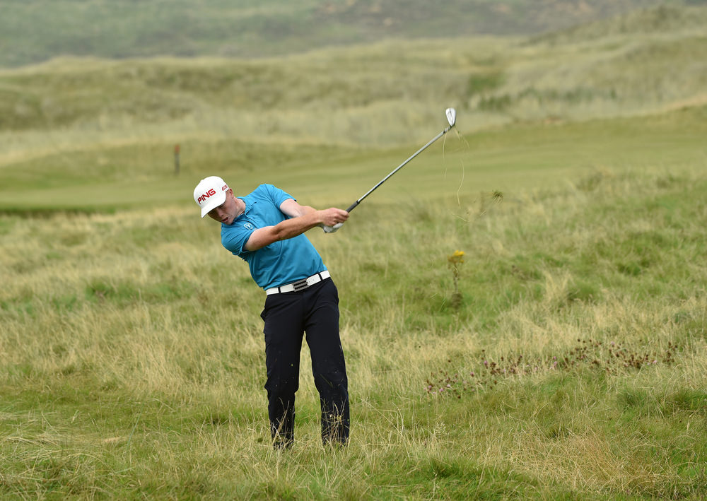 Robin Dawson (Tramore / Maynooth University) in rough at the 16th hole at the AIG Irish Amateur Close Championship at Ballyliffin Golf Club (18/08/2016).  Picture by   Pat Cashman