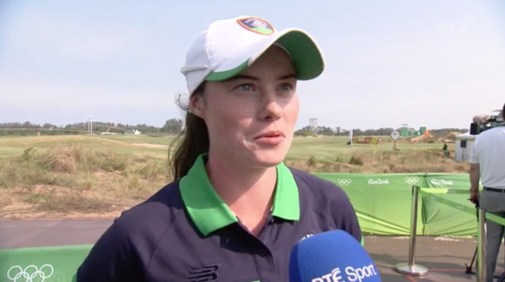 Leona Maguire speaks to RTE's Gary Moran after her second round 65