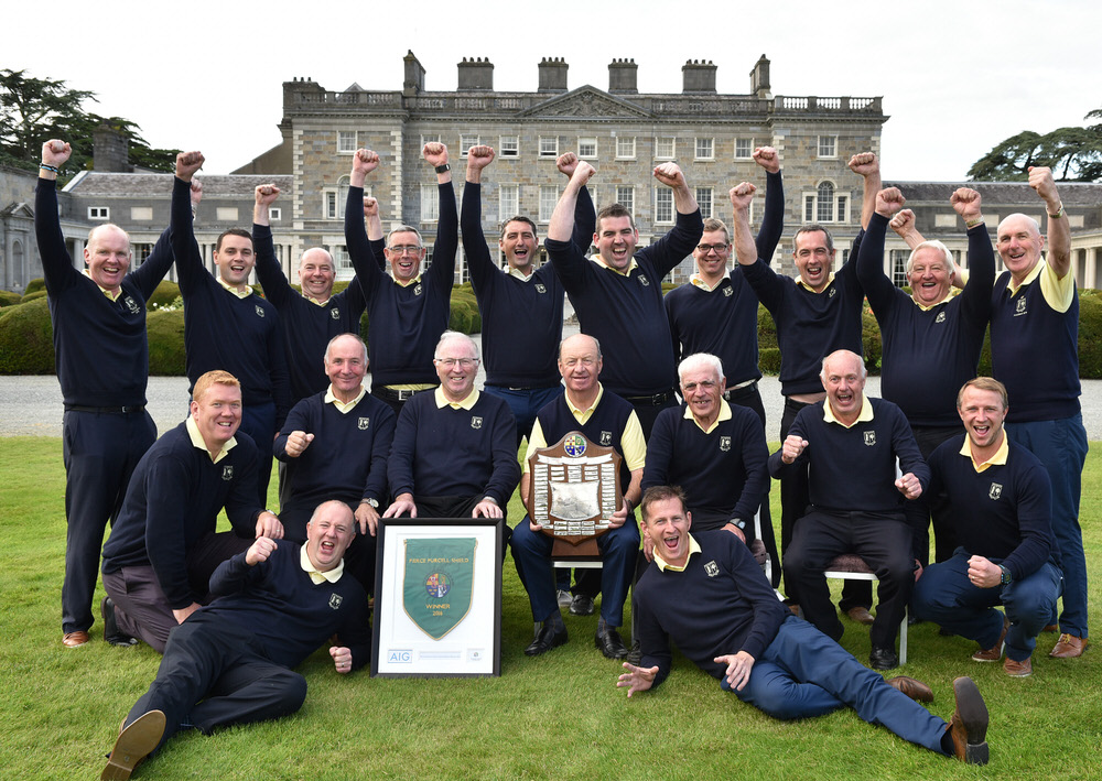 Nenagh Golf Club winners of the AIG Pierce Purcell Shield at Carton House today (16/09/2016). Picture by Pat Cashman