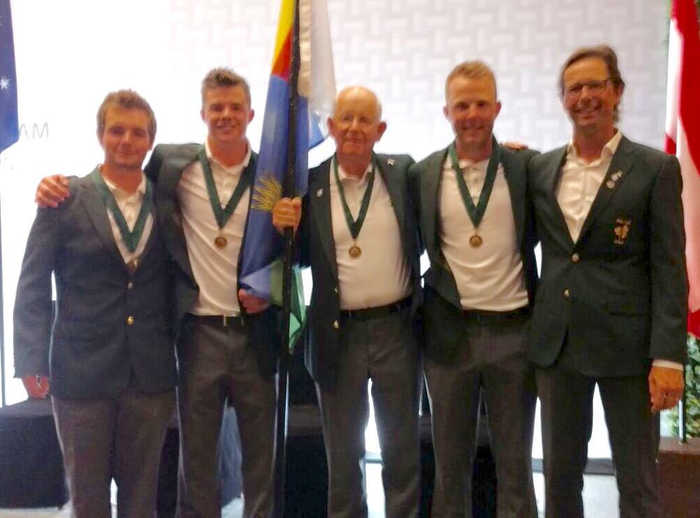 L-R, Jack Hume, Stuart Grehan, Tony Goode, Paul McBride and Neil Manchip.