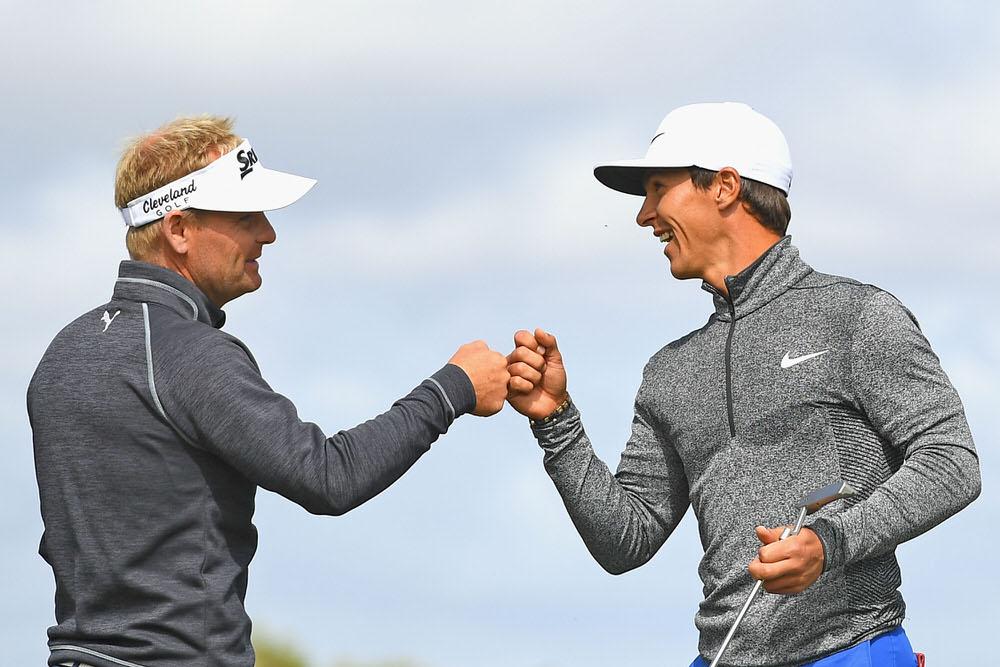 horbjorn Olesen and Soren Kjeldsen. Picture Getty Images