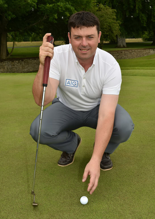 Former Waterford hurler Paul Flynn (Tramore Golf Club) pictured at the GUI National Golf Academy today to launch the 2016 AIG Cups & Shields. Picture by Pat Cashman
