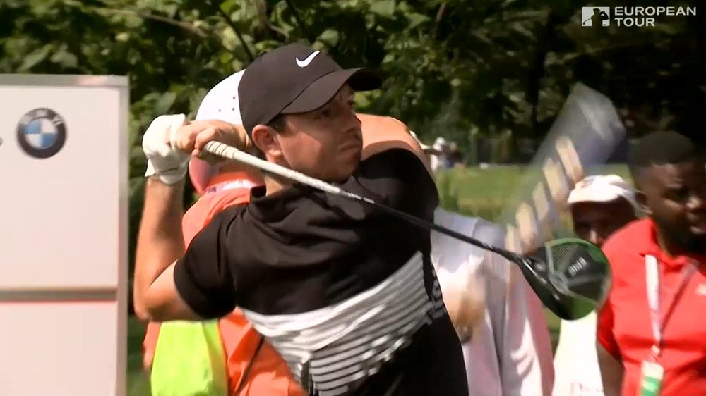 Rory McIlroy during practice for the BMW SA Open