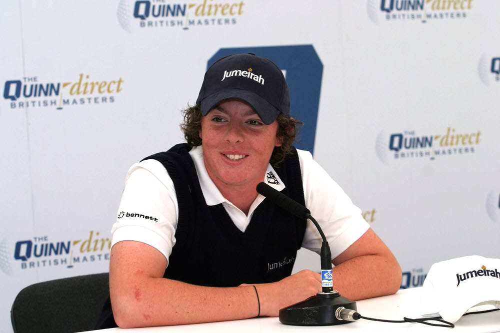 Rory McIlroy on his pro debut at the British Masters in September 2007