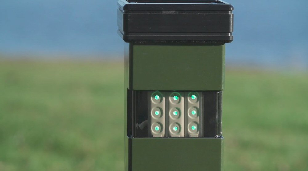 Solar powered post