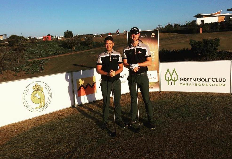 Rory McNamara with playing partner Benedict Staben in Morocco