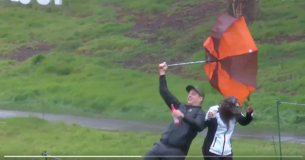 It was windy at Riviera on Friday