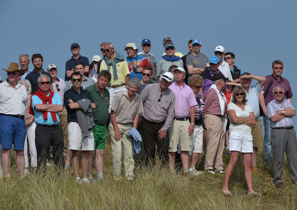 Crowds watching the action during the final round of the 2016 East of Ireland Championship at County Louth Golf Club. 6 June 2016. Picture by  Pat Cashman