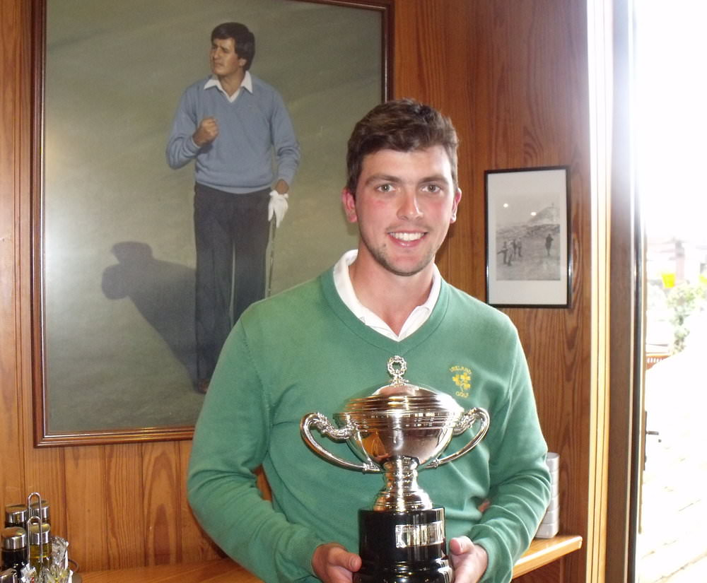 Reeve Whitson, pictured in 2013 with the Copa del Rey, awarded to the winner of the Spanish Amateur Open Championship. Picture courtesy  @gmacespanya
