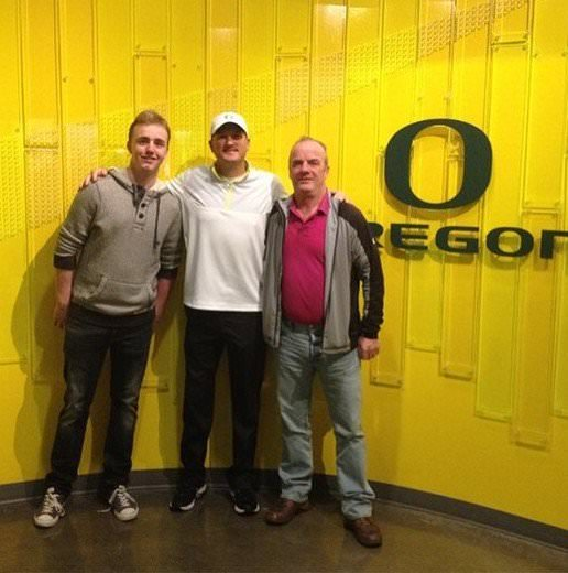 Thomas Mulligan on his visit to the University of Oregon, his destination for 2017-18