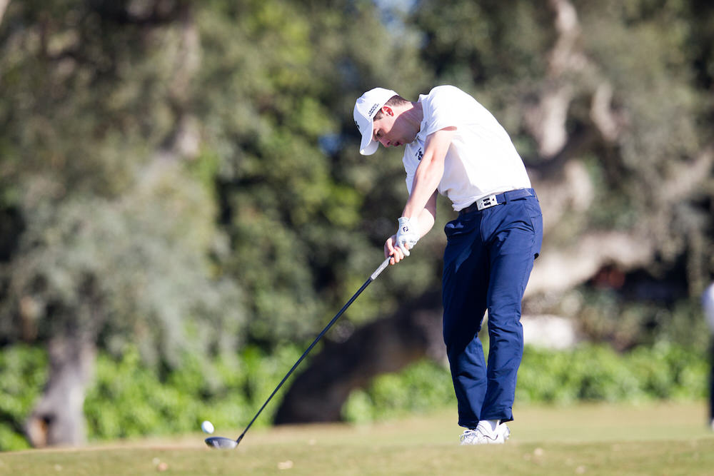 Alex Gleeson (IRL) during the first round at Real Club de Golf Sotogrande. Picture: Golffile | Fran Caffrey