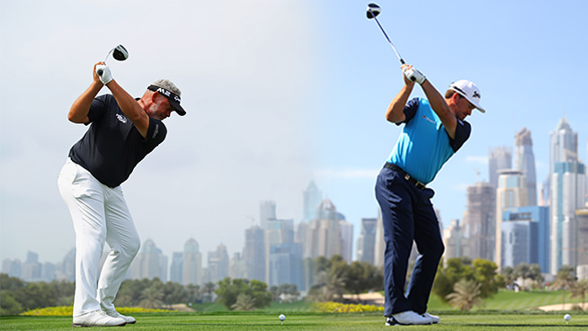 Darren Clarke and Graeme McDowel are heading for Portstewart in July. Picture: Getty Images
