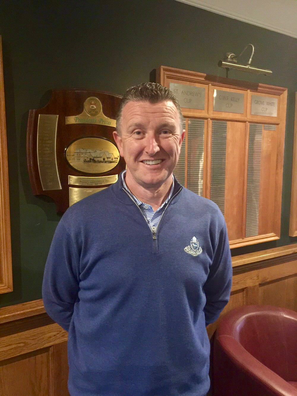 Francis Howley at his new home, Portmarnock Golf Club