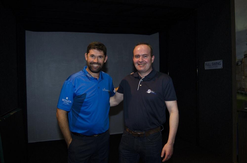 Pádraig Harrington with Conor Galvin, Managing Director of Golf Voyager.