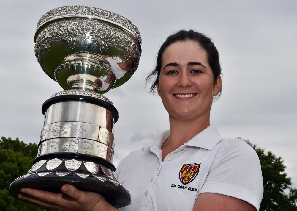 Paula Grant (Lisburn) after her victory at the 2017 Irish Women's Close Amateur Championship at Mullingar Golf Club (25/065/2017). Picture by Pat Cashman