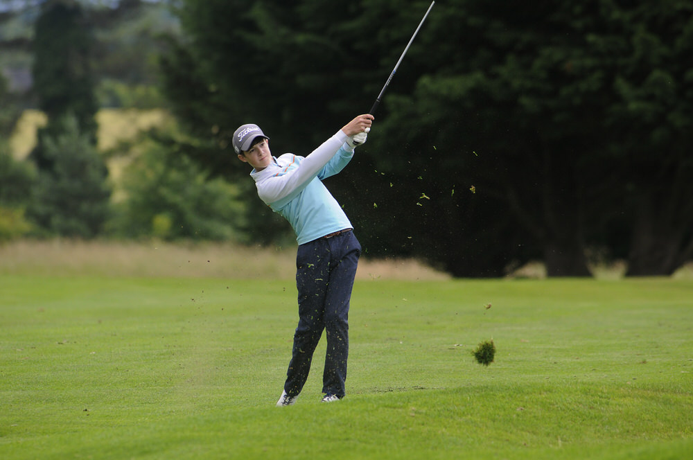 Evan Shipp in action in the Leinster Boys Under 16 Close Championship at Ashbourne Golf Club. Picture courtesy Ronan Quinlan