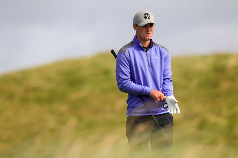 Conor O'Rourke (Naas) during the last 16 of the South of Ireland Championship at Lahinch. Picture: Fran Caffrey / Golffile