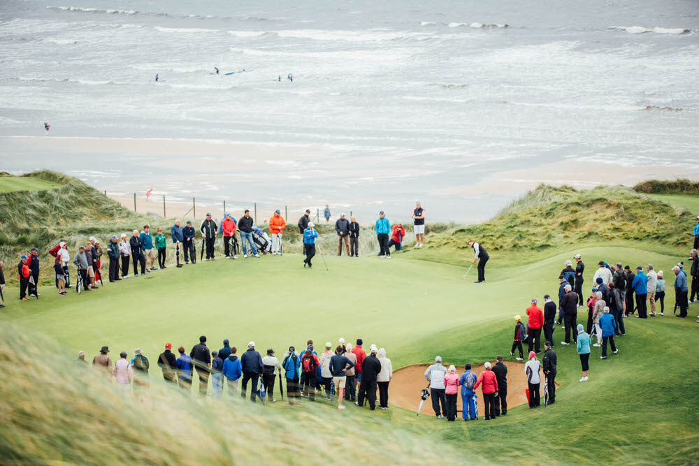 James Sugrue and Conor O'Rourke during in the final of the South of Ireland Golf Championship in Lahinch.Picture ©Brian Arthur/Golffile