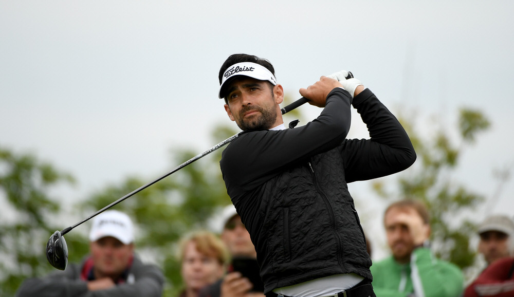 PRAGUE, CZECH REPUBLIC - SEPTEMBER 02: Lee Slattery of England on the 11th tee during the third round of the D+D REAL Czech Masters at Albatross Golf Resort on September 2, 2017 in Prague, Czech Republic. (Photo by Ross Kinnaird/Getty Images)