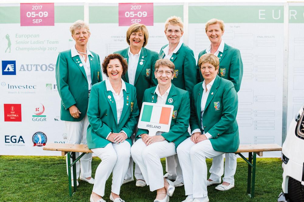 The Irish Senior Women's team at the 2017 European Senior Championships in Slovakia. Picture: EGA