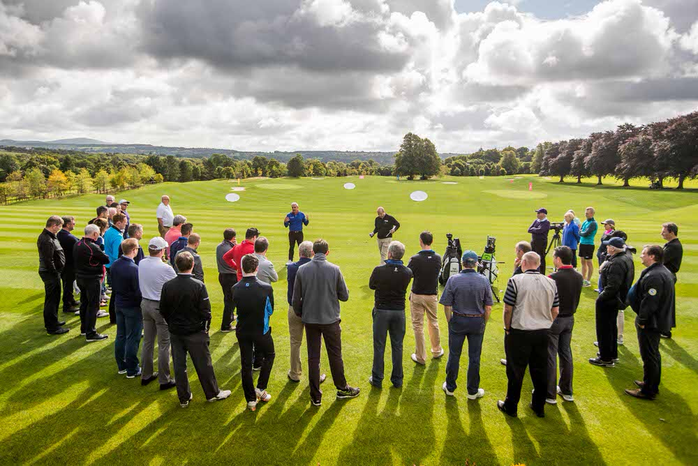 Paul McGinley at the relaunch of the driving range and Academy at Mount Juliet. Picture:Mandatory Credit ©INPHO/Morgan Treacy