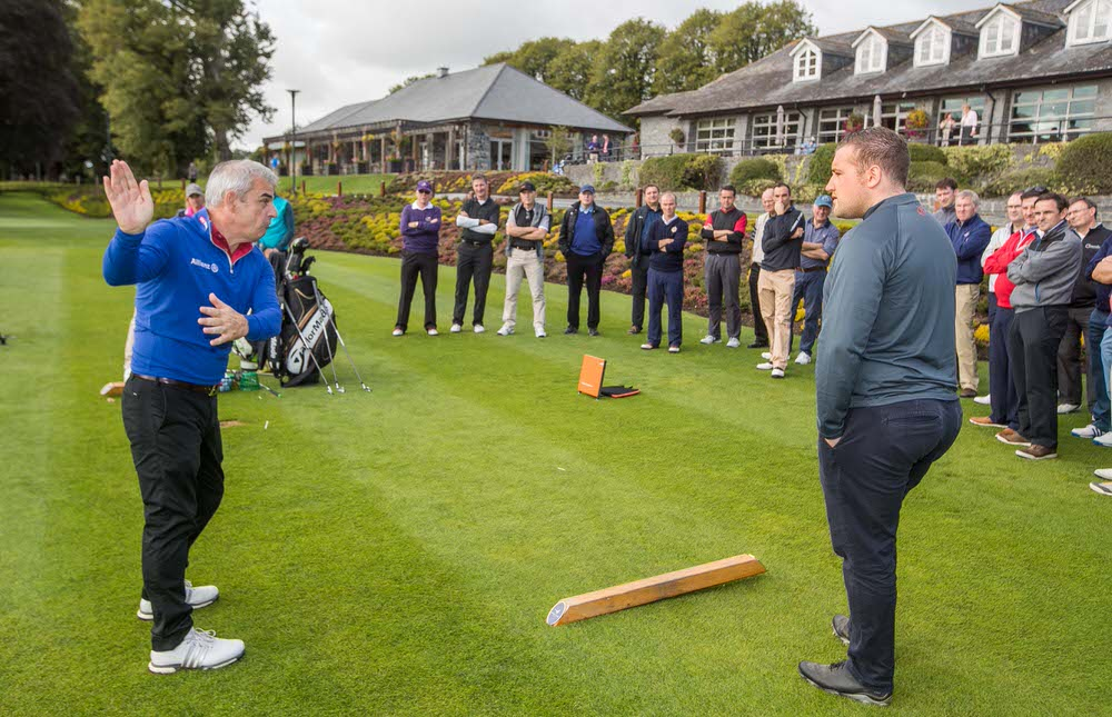 Paul McGinley shows how it's done at Mount Juliet Estate.Picture: ©INPHO/Morgan Treacy
