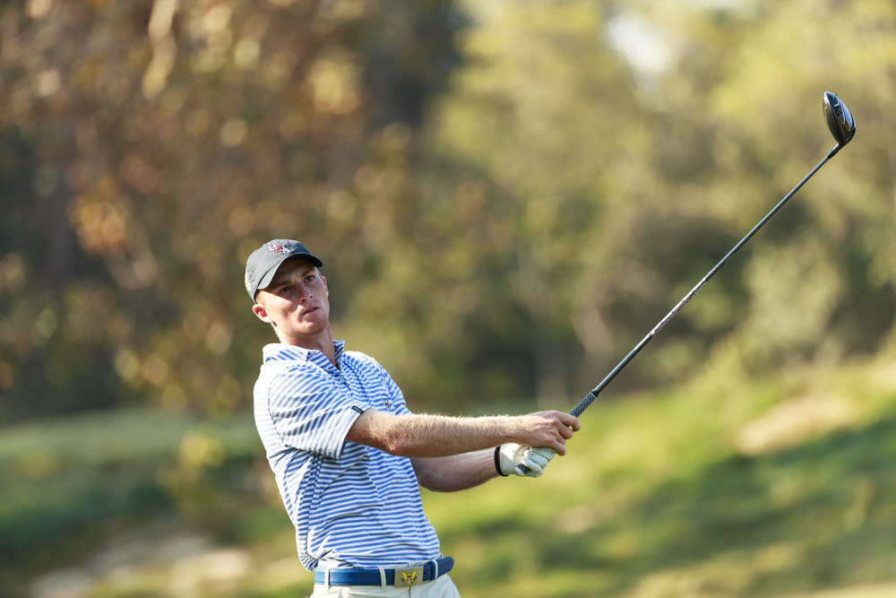 Will Zalatoris watches his tee shot on the 13th hole during a practice round ahead of the 2017 Walker Cup at The Los Angeles Country Club in Los Angeles, Calif. on Thursday, Sept. 7, 2017. (Copyright USGA/Chris Keane)