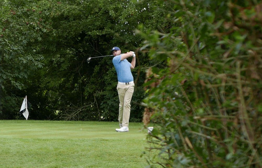Ruaidhri McGee drives at the 17th in the final round at Mount Wolseley