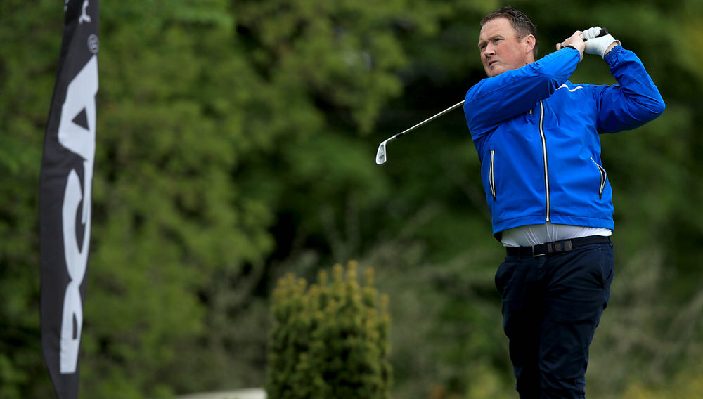 Michael McGeady from the Seamus Duffy Golf Academy during the PGA Assistants' Championship - Ireland Qualifier at County Meath Golf Club on May 16, 2017 in Trim, Ireland. (Photo by Patrick Bolger/Getty Images)