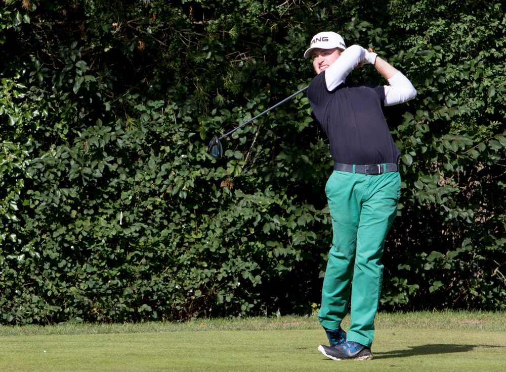 David Carey in action during the recent Irish Challenge at Mount Wolseley. Picture courtesy,  Jimmy Penrose