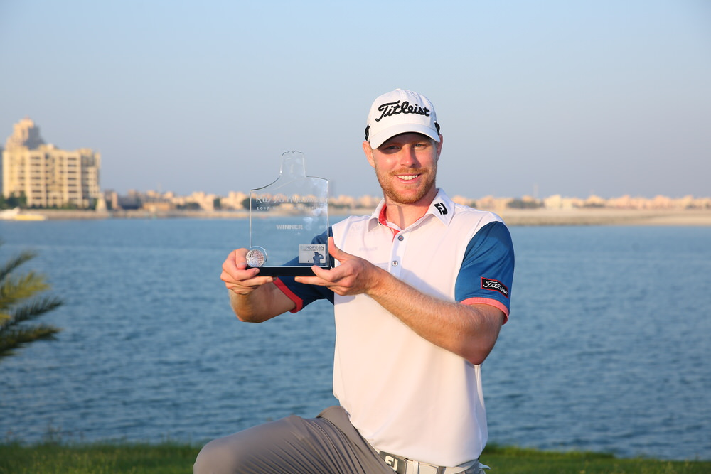 Sween's Jens Dantorp following his playoff win in the  Ras Al Khaimah 2017 Golf Challenge at Al Hamra GC in Ras Al Khaimah, United Arab Emirates. Picture: Ras Al Khaimah Tourism Development Authority