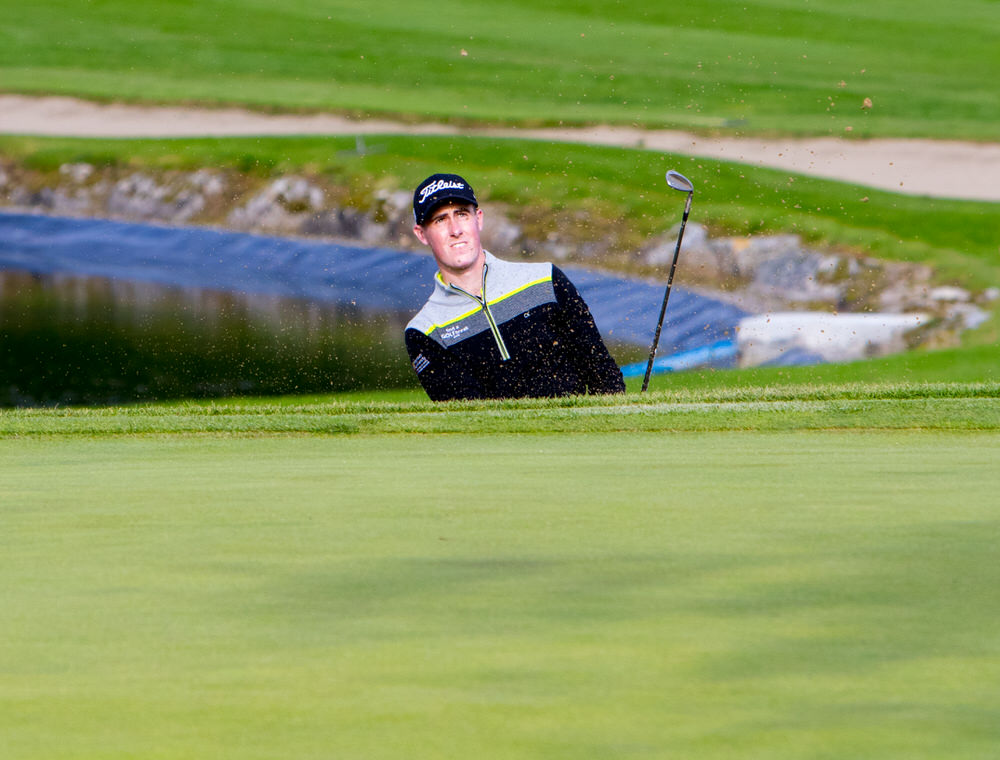 Gary Hurley goes at Panoramica Golf & Sport Resort in Castellón.Picture: Jimmy Penrose