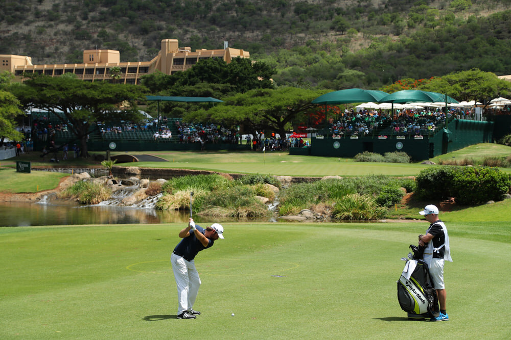 SUN CITY, SOUTH AFRICA - NOVEMBER 10: Victor Dubuisson of France hits his third shot on the 9th hole during the second round of the Nedbank Golf Challenge at Gary Player CC, Photo by Richard Heathcote/Getty Images