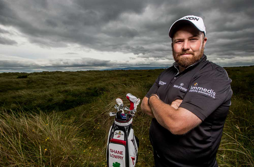 Shane Lowry at the launch of his partnership with Immedis at St Anne's GC last July. Credit ©INPHO/Morgan Treacy