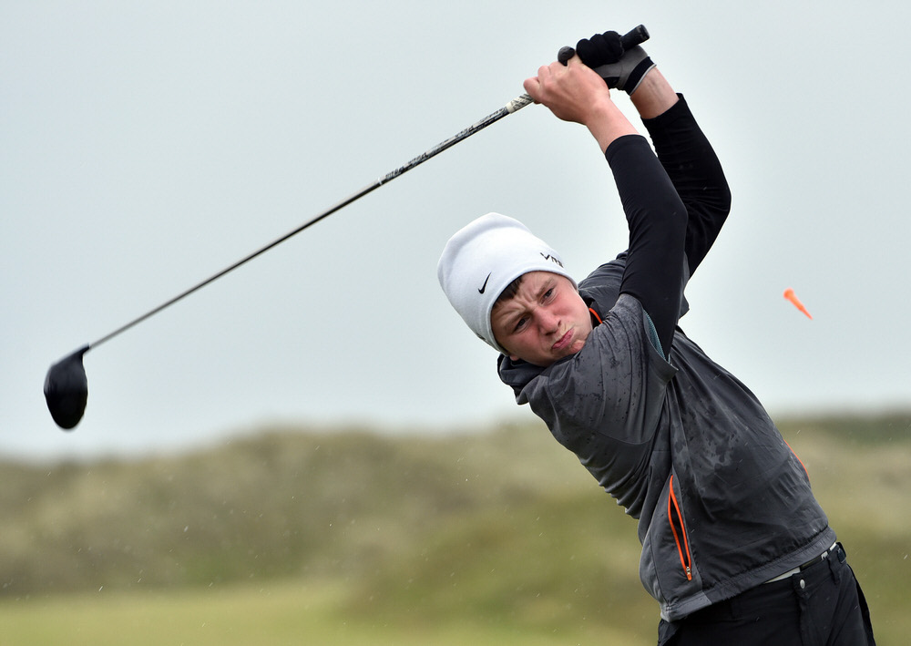 Baltinglass' Joseph Byrne, pictured en route to his 62 at Corballis last year, won the first TaylorMade Winter Series outing of the season at Portmarnock Hotel & Golf Links. Picture:  Pat Cashman