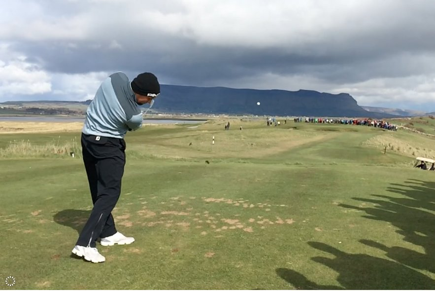 Naas' Jonny Yates en route to victory over Dan Holland in the West of Ireland Championship final in 2016.