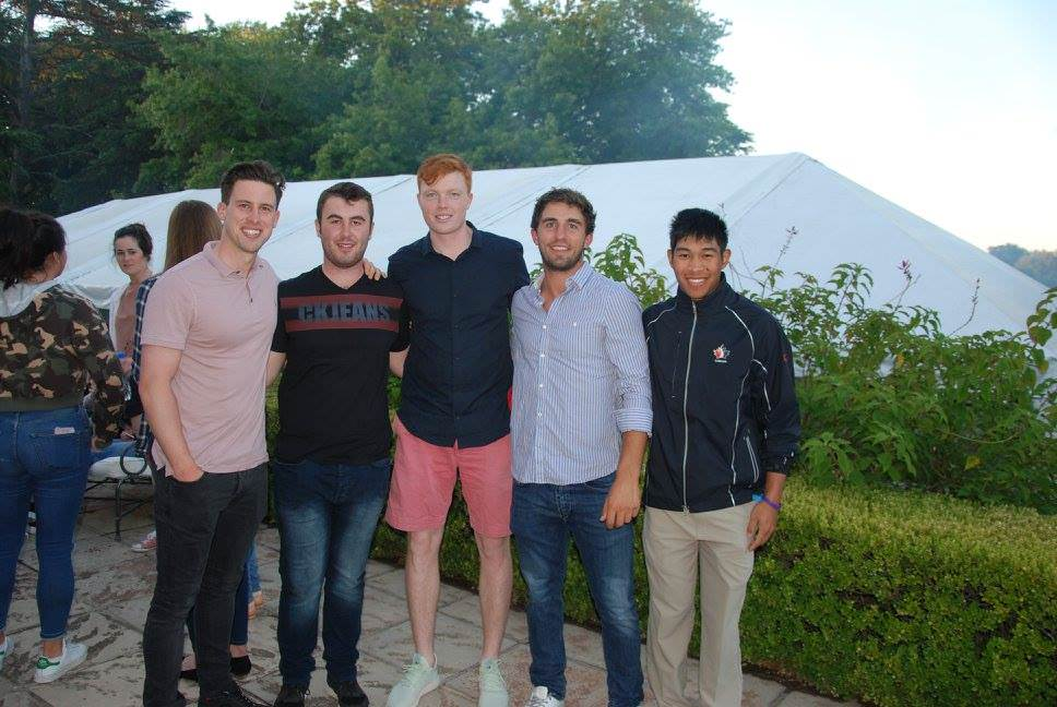 Alex Gleeson (far left) and Robin Dawson (centre) have had good weeks in Argentina.Picture: AAG