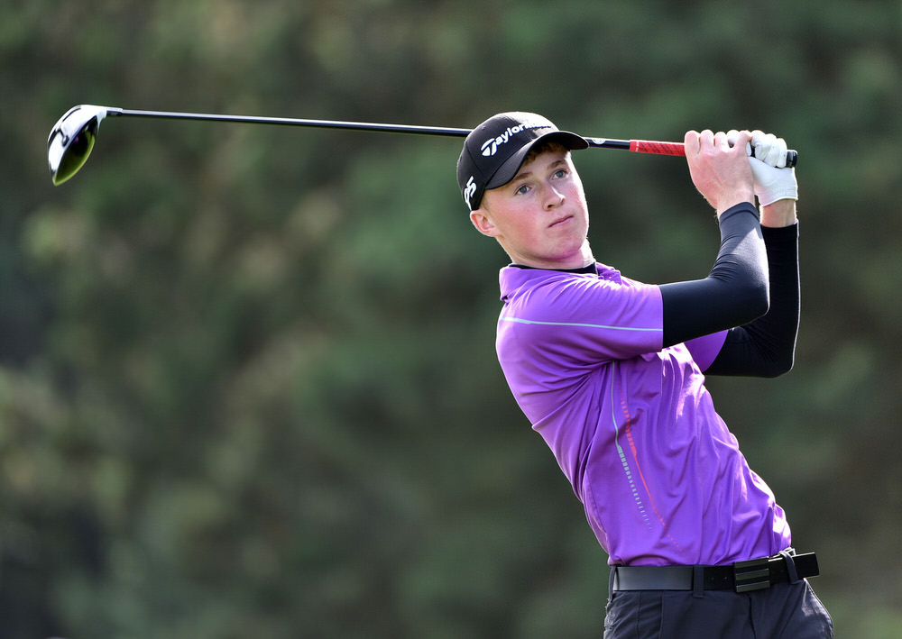 Mark Power during last year's AIG Irish Amateur Close at Galway Golf Club. Picture:  Pat Cashman