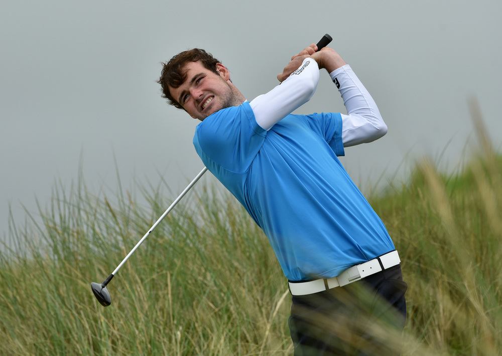 Jake Whelan (Newlands) during the AIG Irish Amateur Close Championship semi-finals at Ballyliffin. Picture by  Pat Cashman