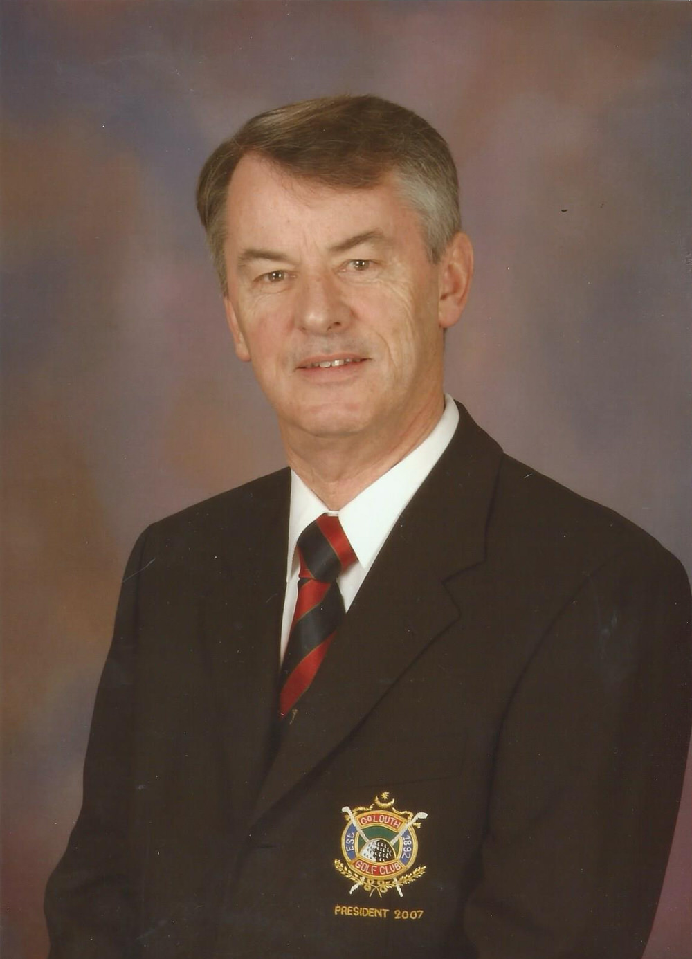 Mark Gannon during his Presidency of County Louth Golf Club in 2007