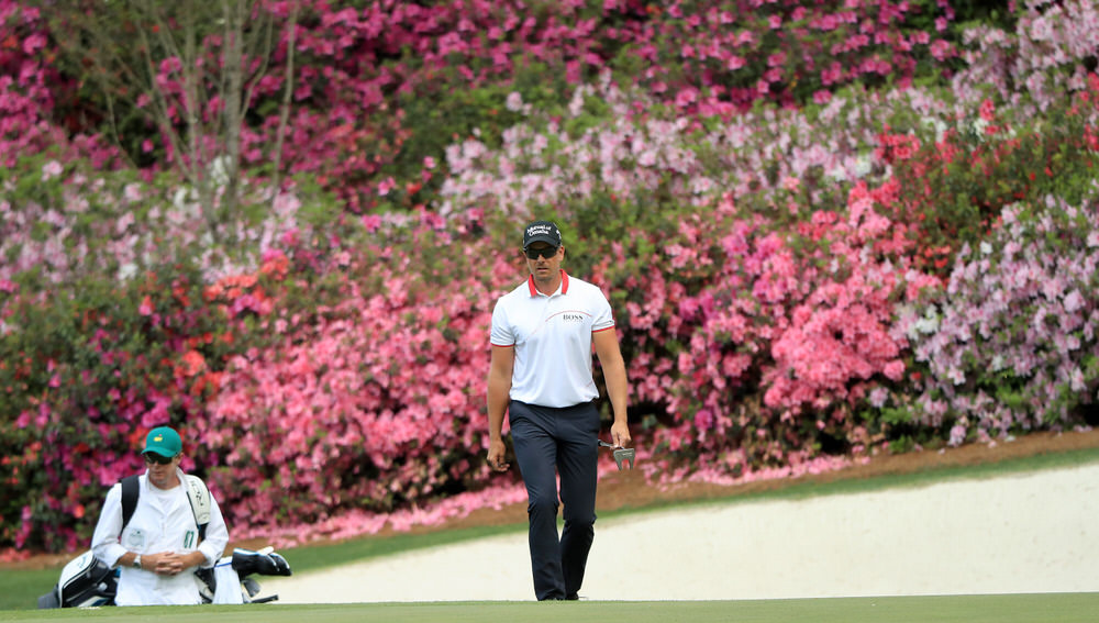 Henrik Stenson of Sweden walks onto the 13th green during the second round of the 2018 Masters Tournament at Augusta National Golf Club on April 6, 2018 in Augusta, Georgia. (Photo by Andrew Redington/Getty Images)
