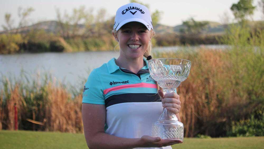 Stephanie Meadow with the trophy