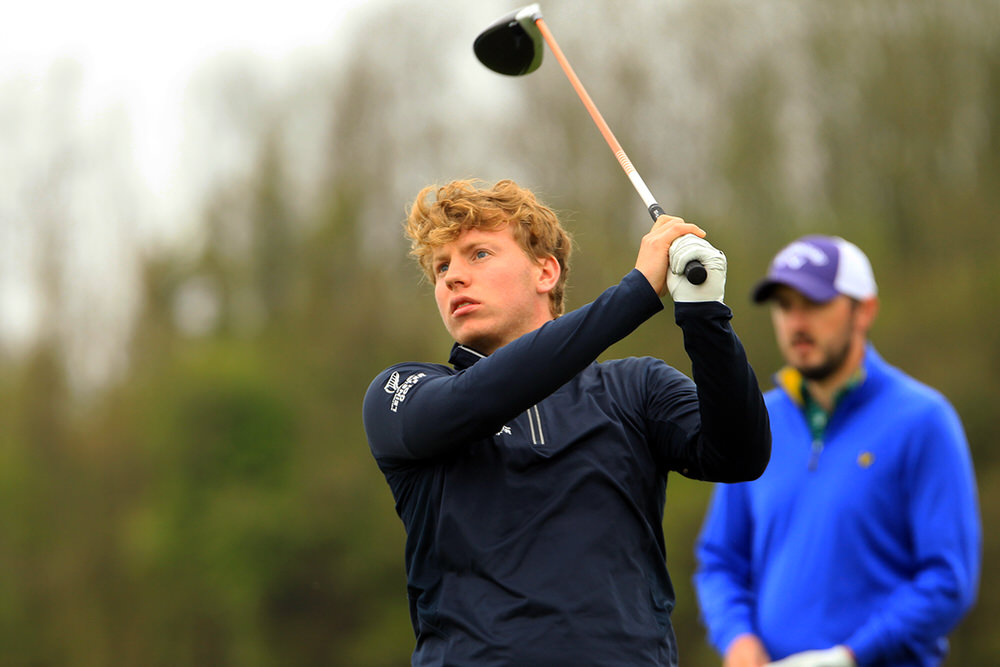 Alan Fahy in action in the Munster Strokeplay in Cork Golf Club. Picture: Niall O'Shea