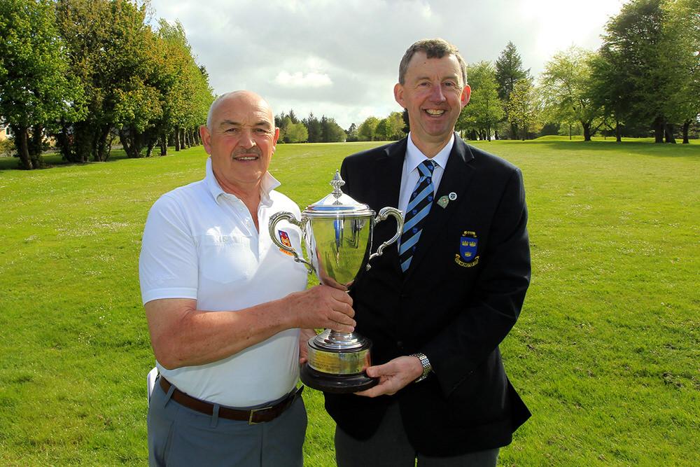 Billy Donlon (Birr) receiving the Munster Seniors Open trophy