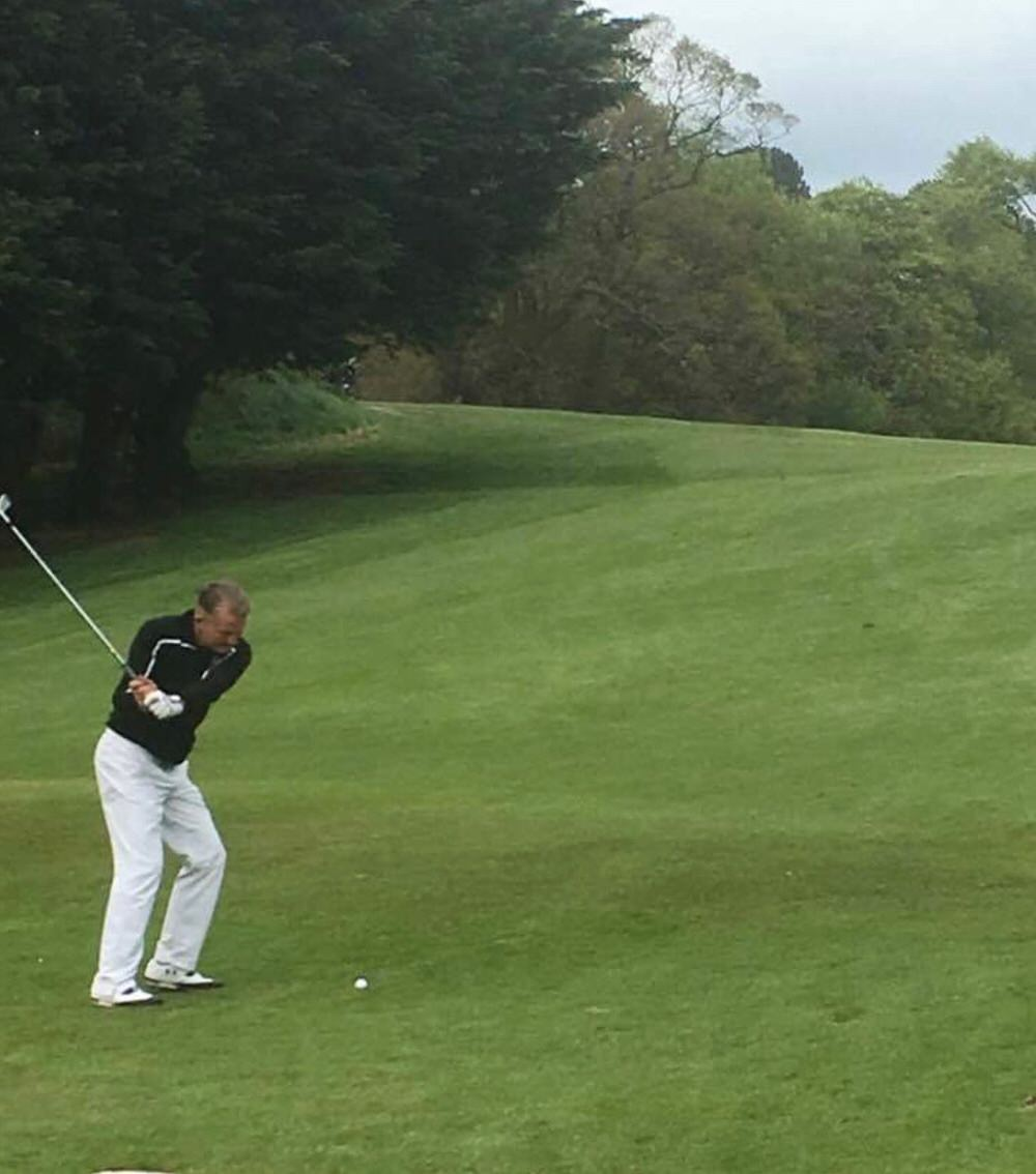 Paddy Gribben in action on Sunday